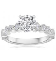 Imagine Bridal 14K White Gold Diamond Engagement Ring