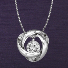 Denise Anne 14k White Gold Time & Eternity Diamond Pendant