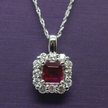 Denise Anne 14k White Gold Gemstone Pendant