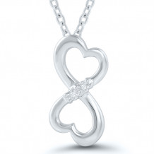 Sterling Silver Diamond Pendant