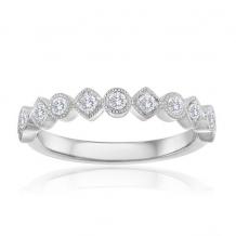 Imagine Bridal 14K White Gold Diamond Wedding Band