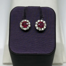 Denise Anne 14k White Gold Gemstone Earrings