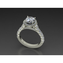 Custom Design Diamond Engagement Ring