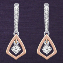 Denise Anne Two Toned 14k Gold Diamond Earrings