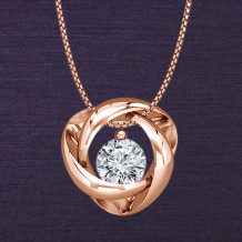 Denise Anne 14k Rose Gold Time & Eternity Diamond Pendant