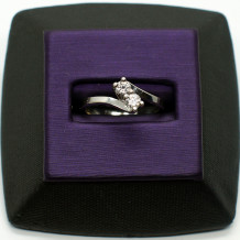 Denise Anne Diamond Sterling Silver U&I Ring