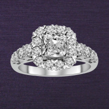 Denise Anne 14k White Gold Semi-Mount Diamond Engagement Ring