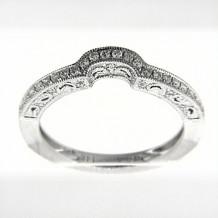 Venetti Designs 14k White Gold Diamond Wedding Band