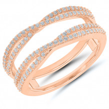 14k Rose Gold Diamond Wrap