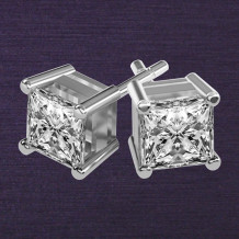 Denise Anne 14k White Gold Diamond Earrings