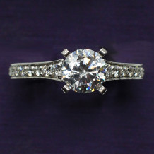 Denise Anne 14k White Gold Diamond Semi Mount Engagement Ring