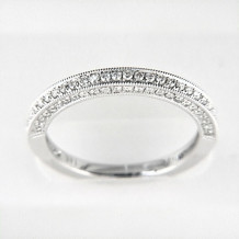 Venetti Designs 14k White Gold 0.44ct Diamond Wedding Band