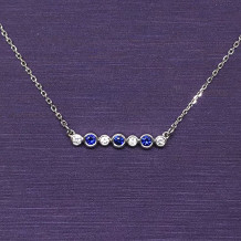 Denise Anne 14k White Gold Gemstone Necklace