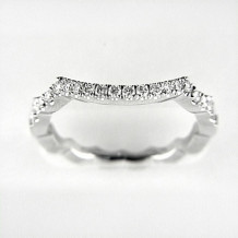 Venetti Designs 14k White Gold 0.36ct Diamond Wedding Band