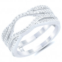 14k White Gold Diamond Wrap