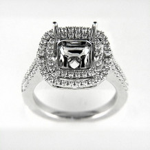 Venetti Designs 14k White Gold 0.74ct Diamond Engagement Ring