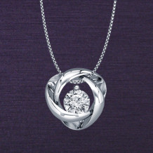 Denise Anne Sterling Silver Time & Eternity Diamond Pendant