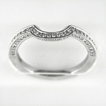 Venetti Designs 14k White Gold 0.30ct Diamond Wedding Band