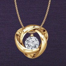 Denise Anne 14k Yellow Gold Time & Eternity Diamond Pendant