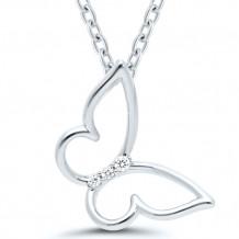 Sterling Silver Diamond Pendant