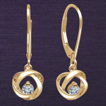 Denise Anne 14k Yellow Gold Time & Eternity Diamond Earrings