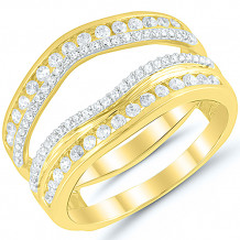 14k Yellow Gold Diamond Wrap