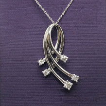 Denise Anne 14k White Gold Diamond Pendant