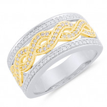 Two Tone 14k Gold Diamond Ring