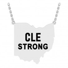 CLE STRONG BLACK LETTER PENDANT