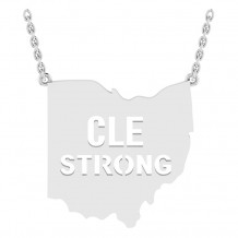 "CLE STRONG ""CUTOUT"" PENDANT"