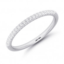 10k White Gold Diamond Anniversary Band