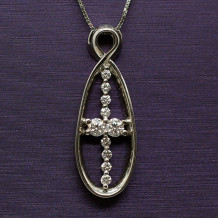 Denise Anne 14k White Gold u&I Diamond Pendant
