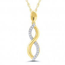 10k Yellow Gold Diamond Pendant