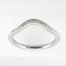 Venetti Designs 14k White Gold 0.13ct Diamond Wedding Band