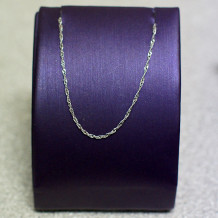 "10k White Gold 18"" Singapore Chain"