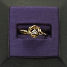 Denise Anne 14k Yellow Gold Time & Eternity Diamond Ring