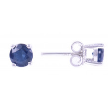 14KT White Gold 5MM Blue Sapphire Earrings (September)