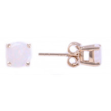 14KT Yellow Gold 5MM Opal Earrings (October)