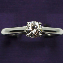Denise Anne 14k White Gold Diamond Solitaire Engagement Ring - 11-002