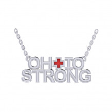 Ohio Strong Red Enamel Pendant (PRE-ORDER)