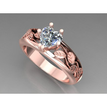 Custom Design Rose Gold Engagement Ring